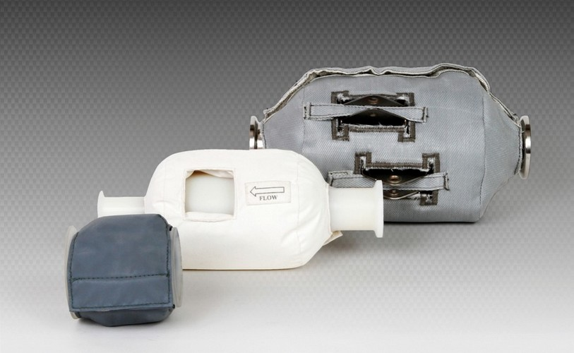 Hochtemperatur-Isolierung-Feuerschutzschilde-Isolierung-Rohrleitungen-Abgasanlagen-Katalysatoren-Ventil-Isolierung
