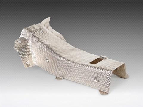 Hochtemperatur-Isolierung-Rennsportmarkt-Abgasverrohrung-Thermische-Isolierung-akustik-akustischen-Katalysator-Krummer-Motorsport